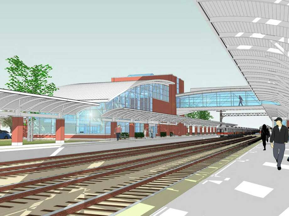 Artist rendering of West Haven train station.