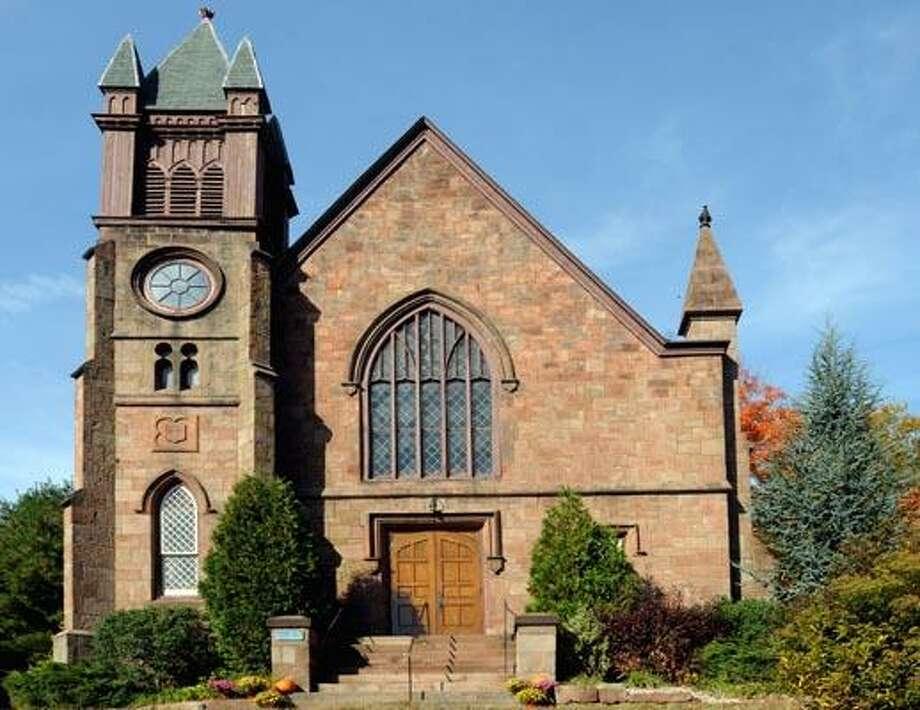 (ms102010)-Northford Congregational Church. It's Bell tower needs complete rebuilding.    Melanie Stengel/Register