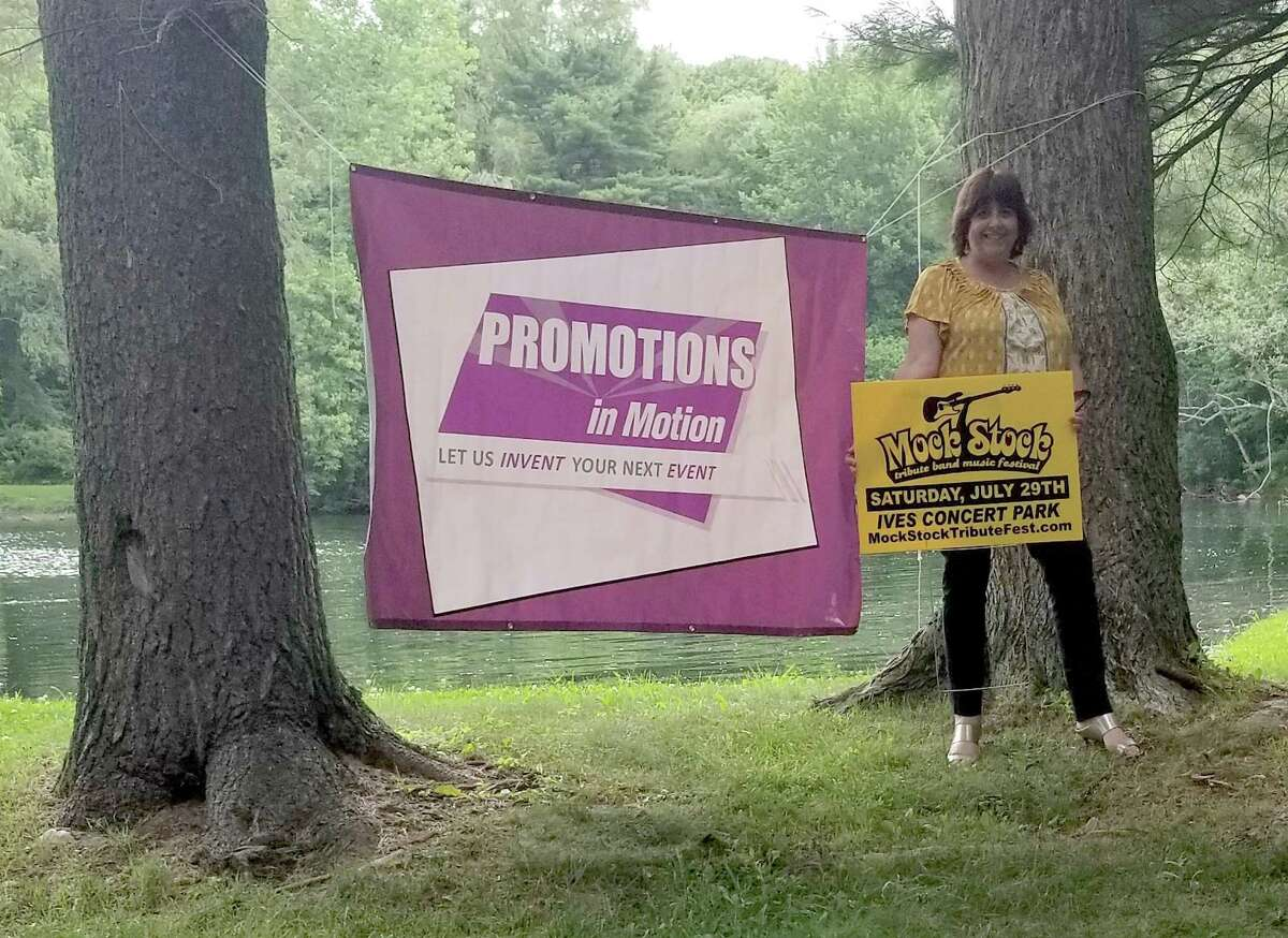 Cathy Moore standing at Ives Concert Park in Danbury.