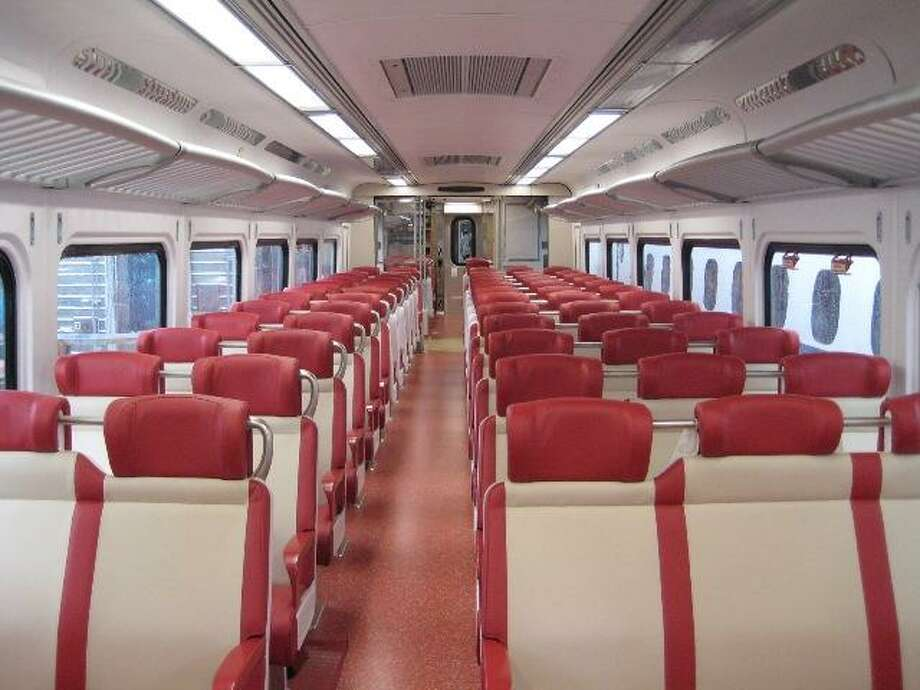 New M8 rail cars are being tested and will be put into service later this year. They are being built by Kawasaki of Japan. (Connecticut Department of Transportation photo)