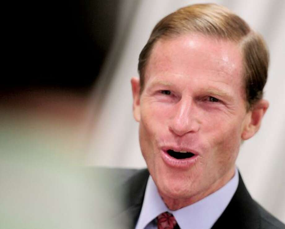 The New Haven Register endorses Richard Blumenthal for Senate. Photo by Brad Horrigan/Register