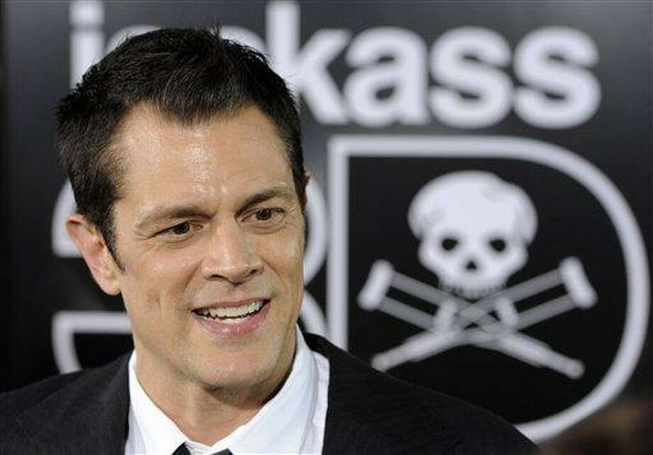 """Johnny Knoxville, a cast member in """"Jackass 3D,"""" arrives at the premiere of the film in Los Angeles, Wednesday, Oct. 13, 2010, in Los Angeles. (AP Photo/Chris Pizzello) Photo: AP / AP"""
