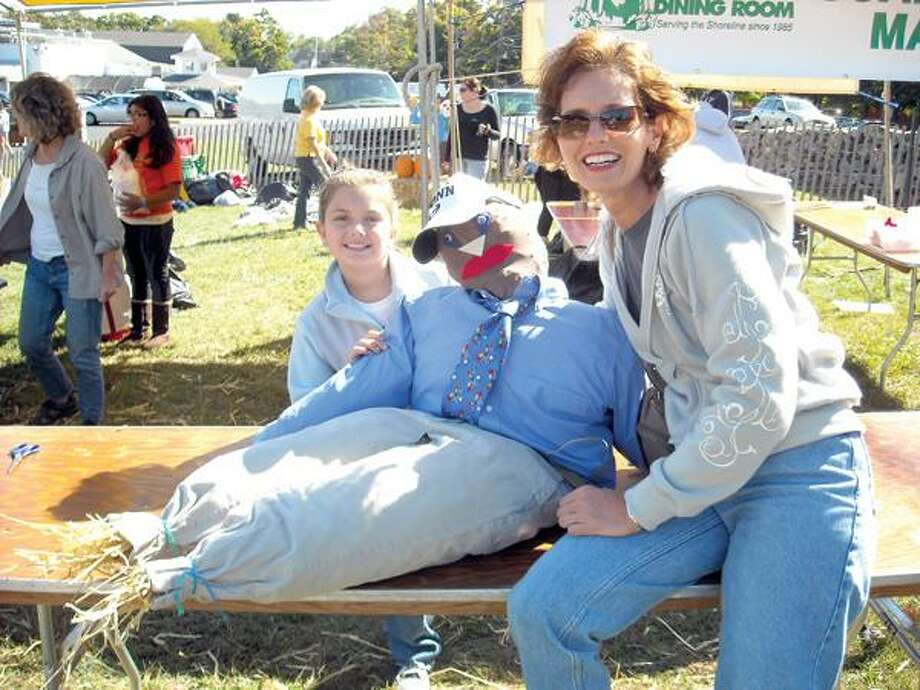 Jayne Nunziante photo, Wallingford's Dawn Sullivan and her daughter, Julia, made their own scarecrow.