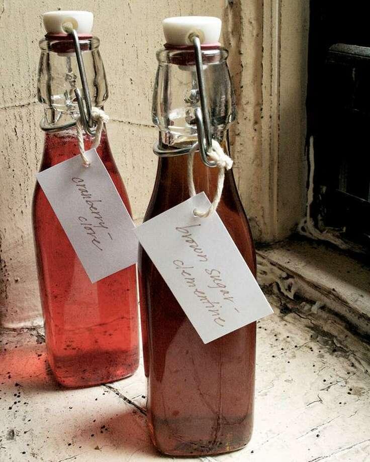 Rebekah Pepler photo, Roasted Cranberry Clove Mixer and Clementine-Brown Sugar Mixer