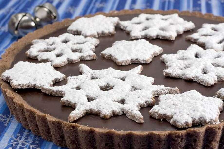Larry Crowe/Associated Press photo, Chocolate Peppermint Snowflake Tart