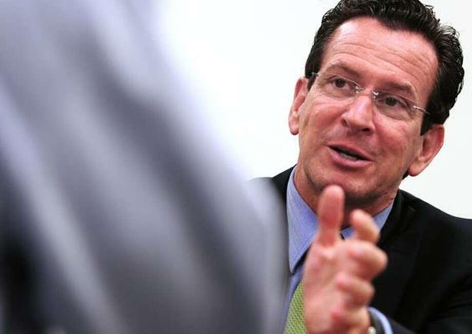 New Haven Register.  BH0683.New Haven, Connecticut - 10.04.10:  Democratic gubernatorial candidate Dan Malloy.