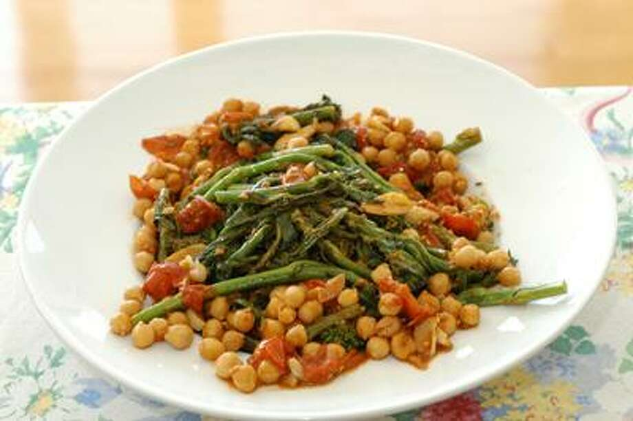 Broccoli rabe with chickpeas. Frank Criscuolo/For the Register