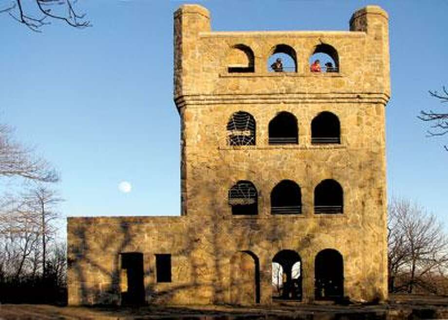 Stretch your legs with a walk up to Sleeping Giant State Park's castle