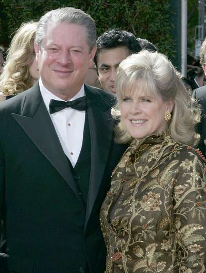 FILE - In this Sept. 16, 2007 file photo, former Vice President Al Gore and his wife, Tipper Gore arrive for the 59th Primetime Emmy Awards at the Shrine Auditorium in Los Angeles. Former Vice President Al Gore and his wife, Tipper, are separating after 40 years of marriage. (AP Photo/Chris Carlson, File) Photo: AP / AP