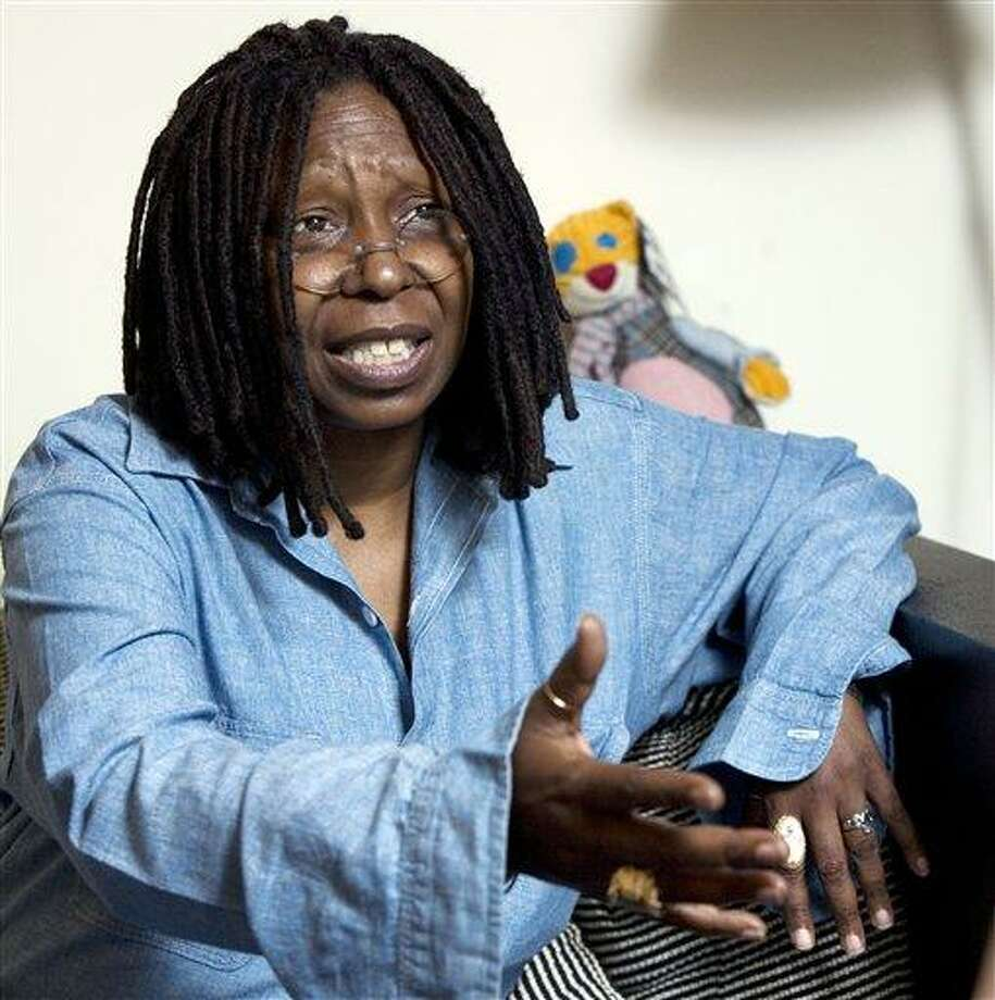 In this Thursday, July 31, 2008 file photo, Whoopi Goldberg responds during an interview in her dressing room in New York. (AP Photo/Richard Drew, File) Photo: AP / AP2008