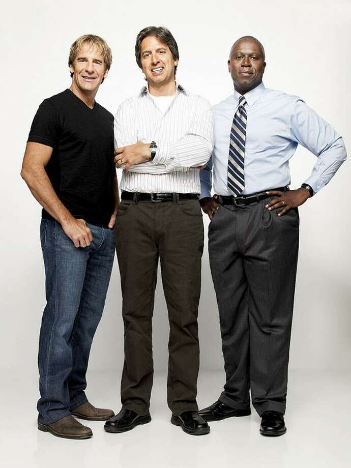 """Scott Bakula, left, Ray Romano and Andre Braugher are """"Men of a Certain Age."""""""
