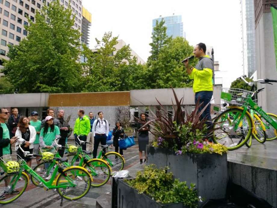 Popular -- So far, these new bike shares seem to have caught on. LimeBike released statistics Monday that showed it was more popular in its first four days than Pronto was at its best. People took roughly 5,000 rides in the first four days of LimeBike bikes being active in Seattle. The company reported more than 1,000 new users who, on average, used the bikes twice a day in the few days since launch. Spin also reported more than 5,000 rides in its first week. Photo: LimeBike