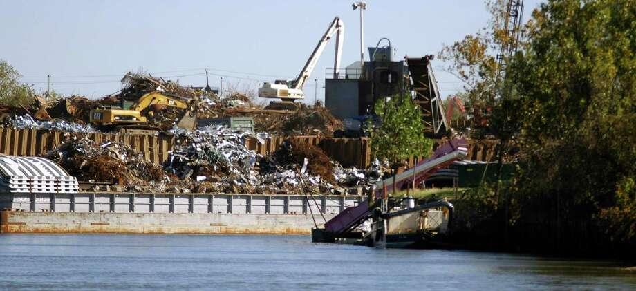 Proler Steel is located on the banks of Buffalo Bayou east of downtown. Photo: Rusty Graham, The Examiner / The Examiner