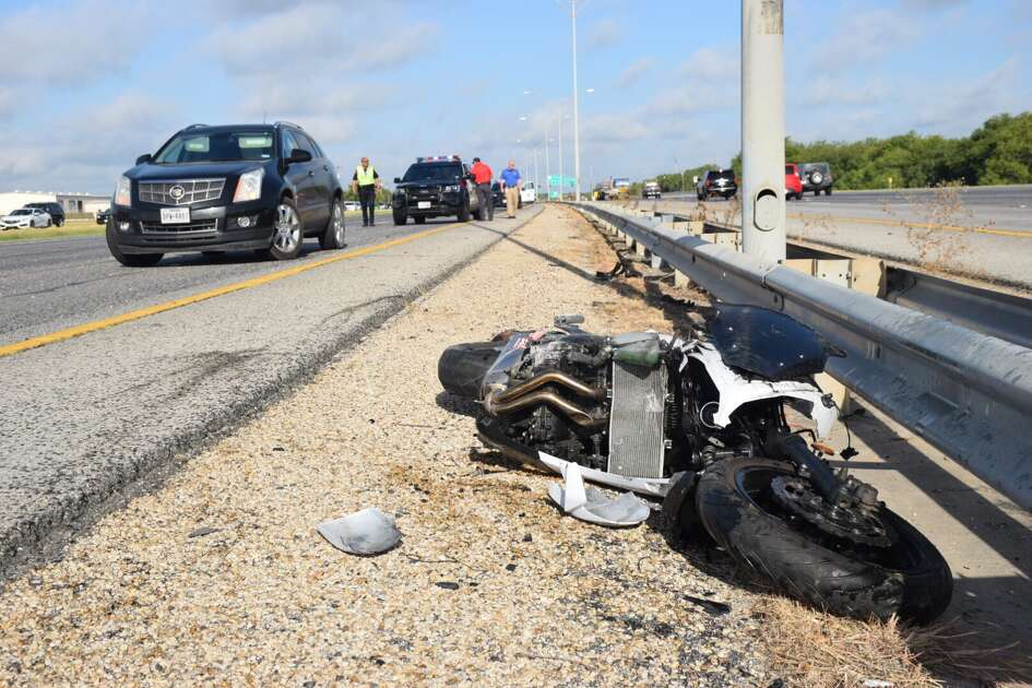 A motorcyclist was hospitalized in critical condition Friday, July 28, 2017, after he collided with a pickup truck on U.S. Highway 90.
