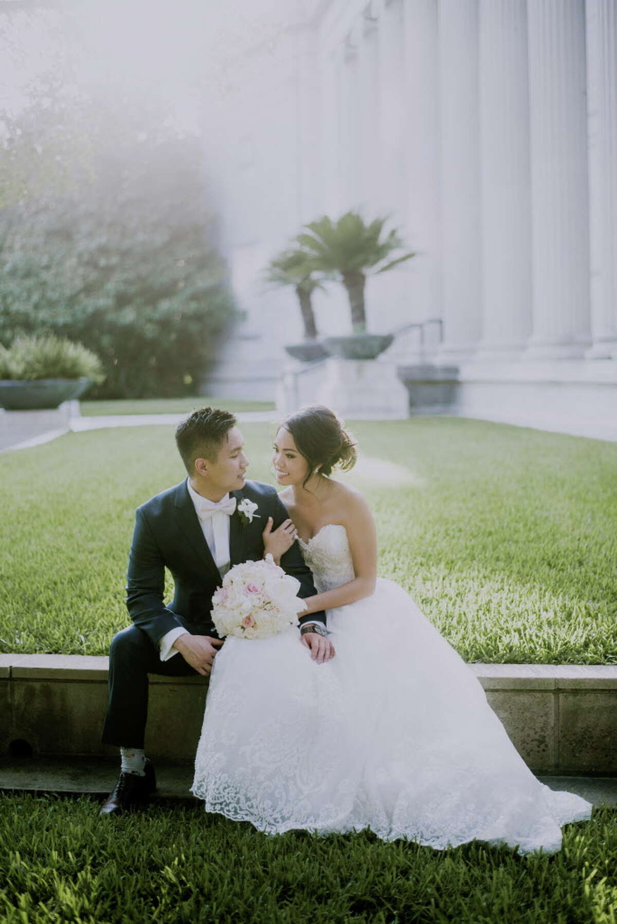 Jessica Pham and Brian Lai tie the knot at Hotel ZaZa, after 12 years of dating.