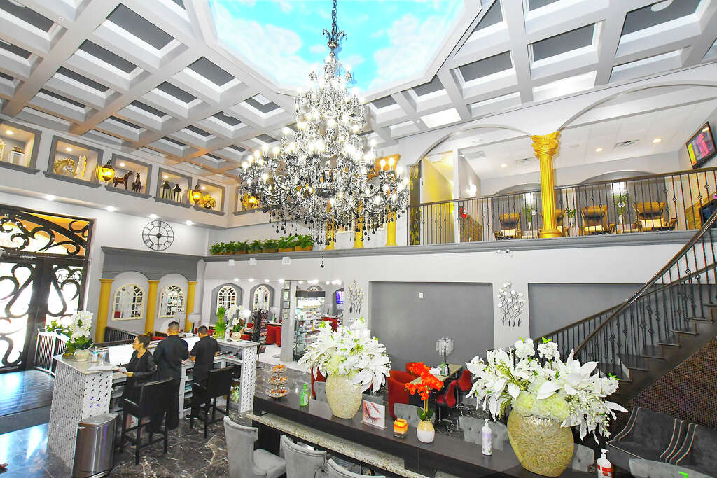 Scenes from the soft opening day for the gossip co nail spa