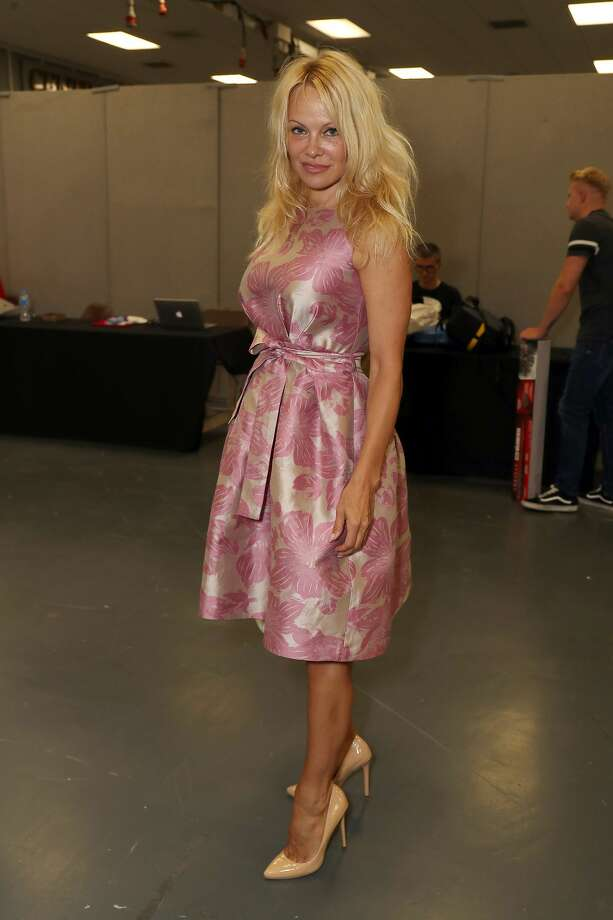 Pamela Anderson during the London Film and Comic Con day 1 at Olympia London on July 28, 2017 in London, England.  (Photo by Neil Mockford/Getty Images) Photo: Neil Mockford/Getty Images