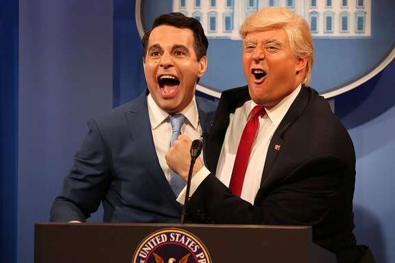 Mario Cantone as new White House communications director Anthony Scaramucci. (Comedy Central)