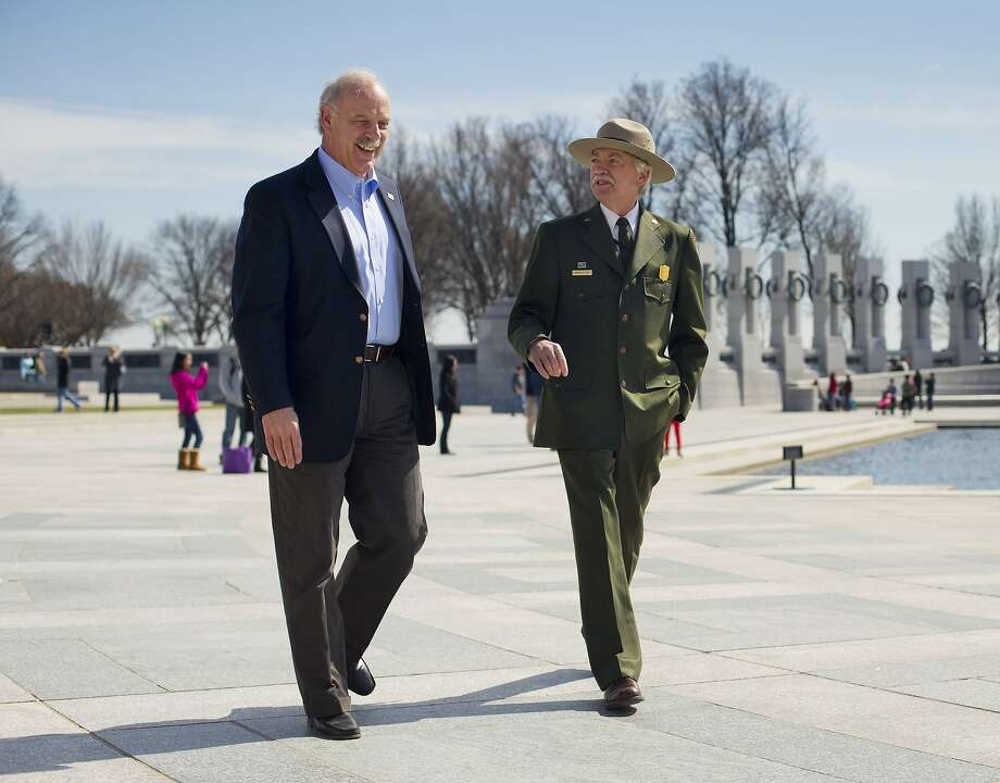 Yellowstone National Park Superintendent Dan Wenk (left) says punishments could range from reprimands to dismissal. Photo: Pablo Martinez Monsivais, Associated Press