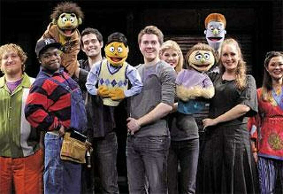 "The cast of the 2009 ""Avenue Q"" national tour. (&Copy;John Daughtry 2009)"