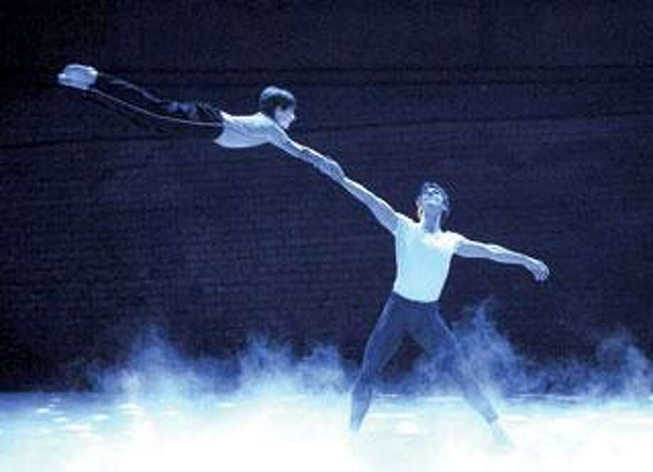 "Kiril Kulish, left, and Stephen Hanna perform in Broadway's multinominated ""Billy Elliot.""  (Associated Press photos)"