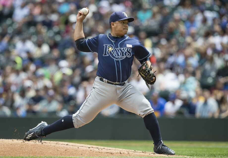 The Mariners reacquired righty Erasmo Ramirez in a trade with the Tampa Bay Rays on Friday. Photo: Stephen Brashear/Getty Images