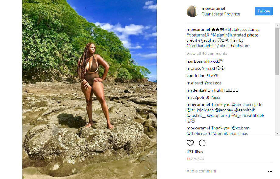 """Members of Florida A&M University's Delta Sigma Theta sorority organized a """"#MelaninIllustrated"""" photo shoot in Costa Rica in late July 2017. The Instagram photos are meant as an homage to black beauty. Photo: File/Instagram"""