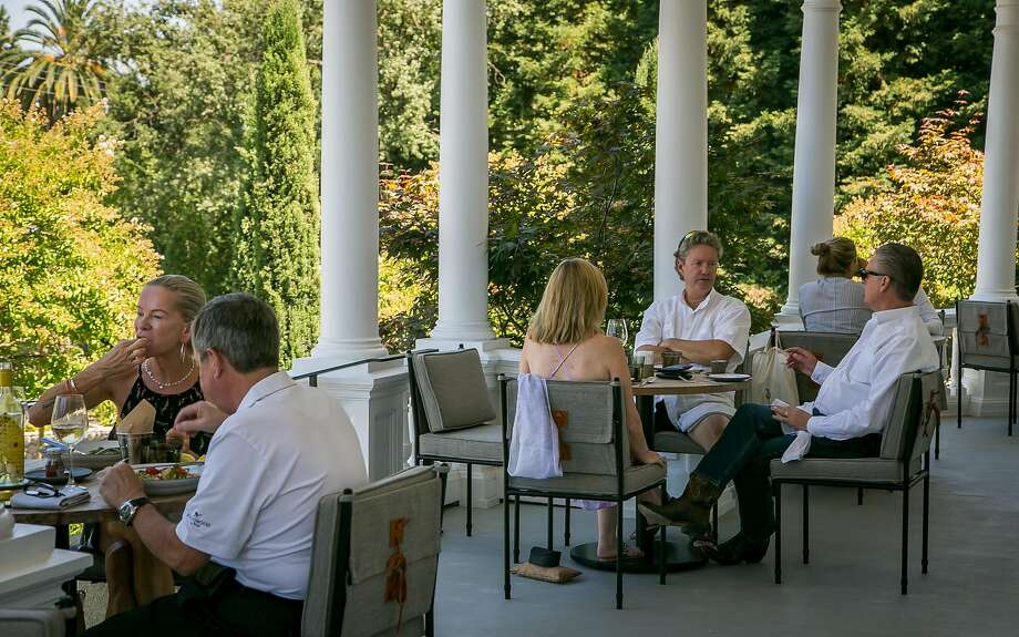 Acacia House patio in St. Helena. Photo: John Storey, Special To The Chronicle