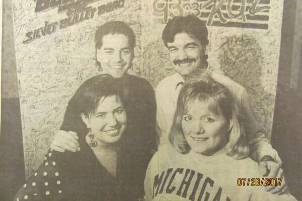 WKQZ-FM 93.3 wants rock n roller Bob Seger to play at the Saginaw Civic Center. So they're asking him to. WKQZ personalities, clockwise from front left, Stacy Latona, MarcArturi, Joe Volk and Connie Schilkey-Kitts are asking fans to sign a huge card (pictured) to be hand-delivered to Seger's manager as well as a petition. (January 1992)