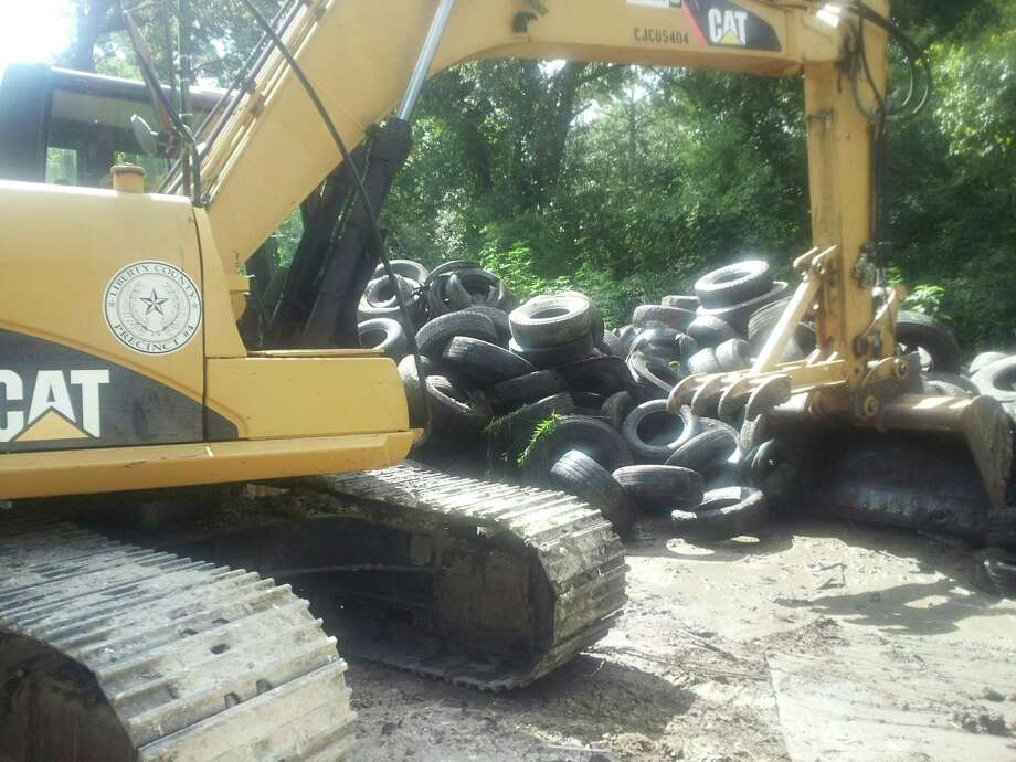 Robert Alen Piver, 52, was arrested Friday, July 28, 2017 in Liberty County for illegally dumping thousands of tires at his home. Photo: Liberty County Sheriff's Office