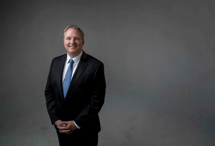 Andy Hendricks, president and CEO of Patterson-UTI, poses for a portrait at the Houston Chronicle, Thursday, April 27, 2017, in Houston. ( Jon Shapley / Houston Chronicle )
