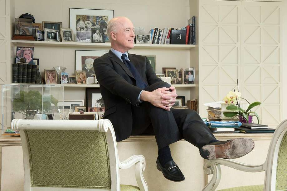 Owner David Bradley sits in the Atlantic's Washington office. Bradley said there would be a slow transition of leadership. Photo: The Washington Post