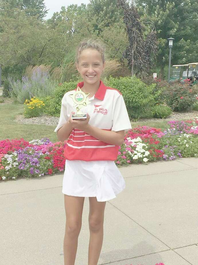 Zoe Gavin won the girls' 9-11 division in the Junior Golf City Championship on Wednesday. (Photo provided)