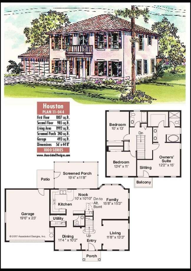 House plans the houston times union for Houston house plans