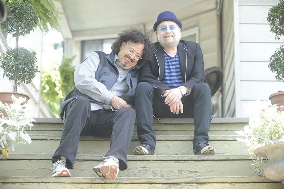 Howard Kaylan, left, and Mark Volman, better known as The Turtles featuring Flo & Eddie, will headline the Happy Together Tour at Ives Concert Park in Danbury, on Friday, Aug. 4. Photo: Happy Together Tour / Contributed Photo