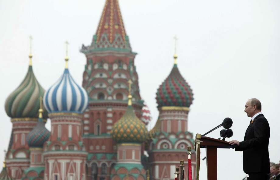 Putin thinks he is smarter than we are. He takes calculated political risks and creates situations that are detrimental to his opponents regardless of outcomes. He is also far more dangerous than most Americans realize.  Here, the Russian leader addresses the Victory Day Parade in 2012. Photo: Associated Press File Photo / AP