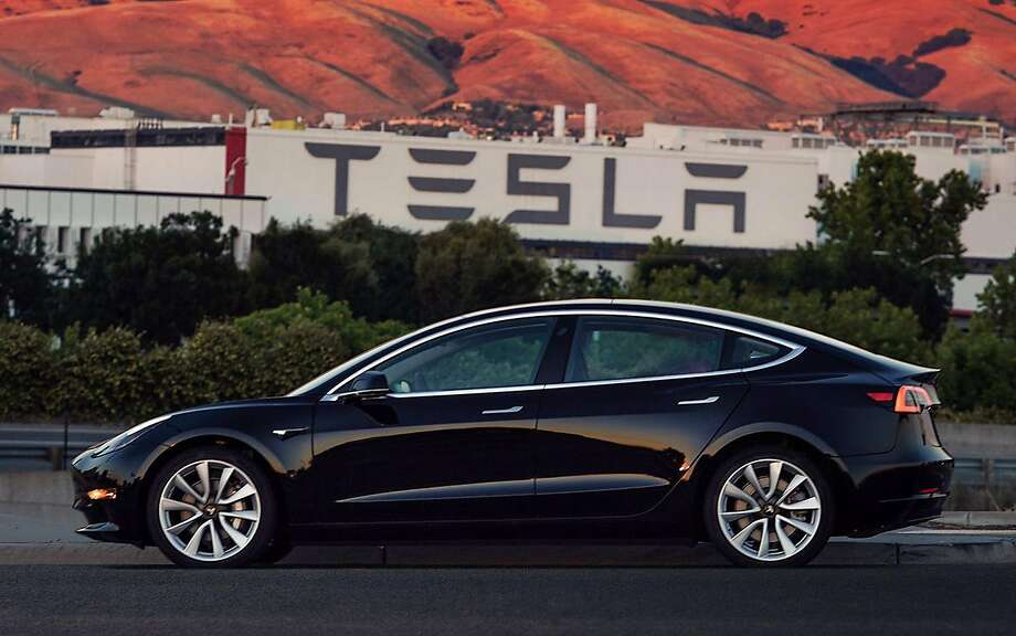 Serial Number: 1. This Tesla Model 3 goes to CEO Elon Musk. (MUST CREDIT: Tesla) Photo: Tesla, Bloomberg