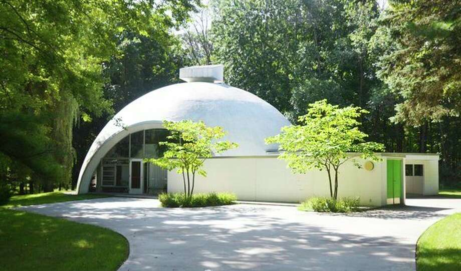 The Robert E. Schwartz House, designed by Robert Schwartz and nestled in northwest Midland, features a dramatic concrete and Styrofoam dome constructed with The Dow Chemical Co. technology.(Alden B. Dow Home and Studio)