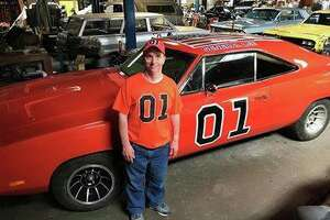 """KTVU's Frank Somerville posted these photos to his Facebook page of Bob and """"General Lee."""""""