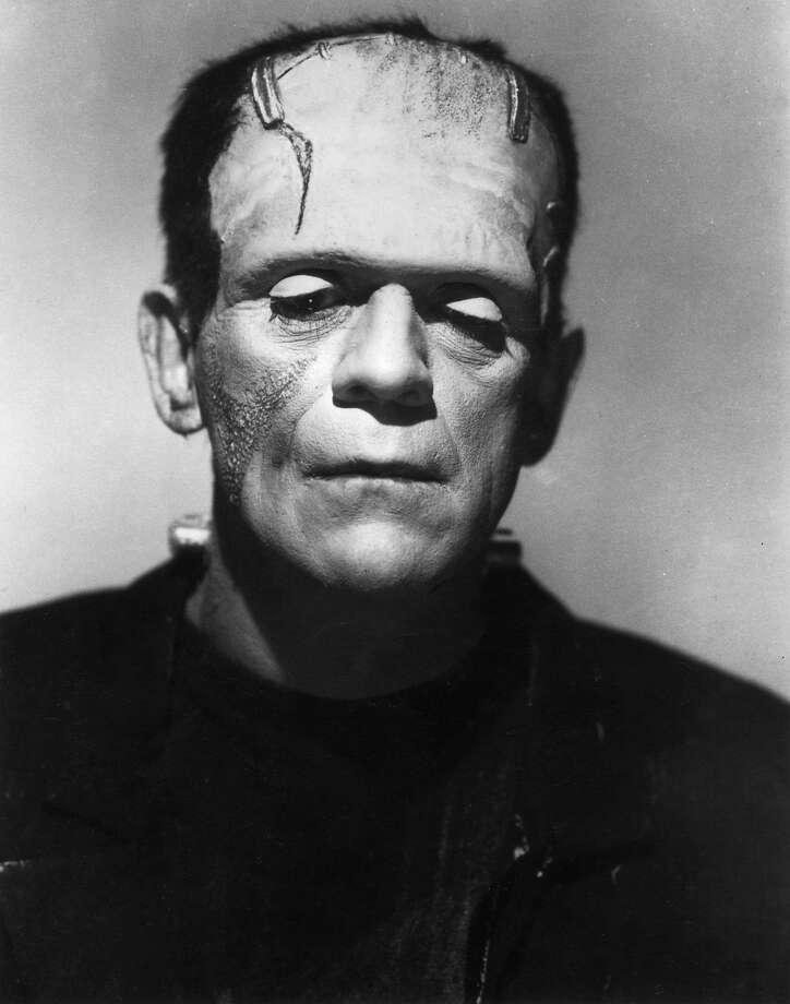 1931: British actor Boris Karloff lowers his eyes as the Monster in a promotional portrait for director James Whale's film, 'Frankenstein'. (Photo by Hulton Archive/Getty Images) Photo: Hulton Archive, Getty Images