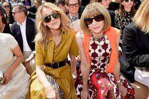 PARIS, FRANCE - JULY 03:  Celine Dion and Anna Wintour attend the Christian Dior Haute Couture Fall/Winter 2017-2018 show as part of Haute Couture Paris Fashion Week on July 3, 2017 in Paris, France.  (Photo by Victor Boyko/Getty Images for Christian Dior)
