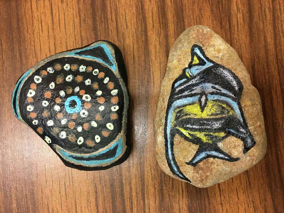 An example of painted rocks found in state parks across Texas. Photo: Texas Parks And Wildlife Department