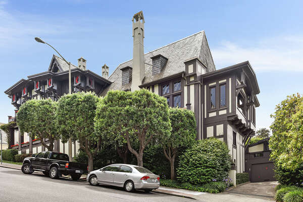 A seven-bedroom mansion in Presidio Heights is on the market for $16 million. The Tudor-style home was originally built in 1909 and designed by California pioneering architect Bernard Maybeck.