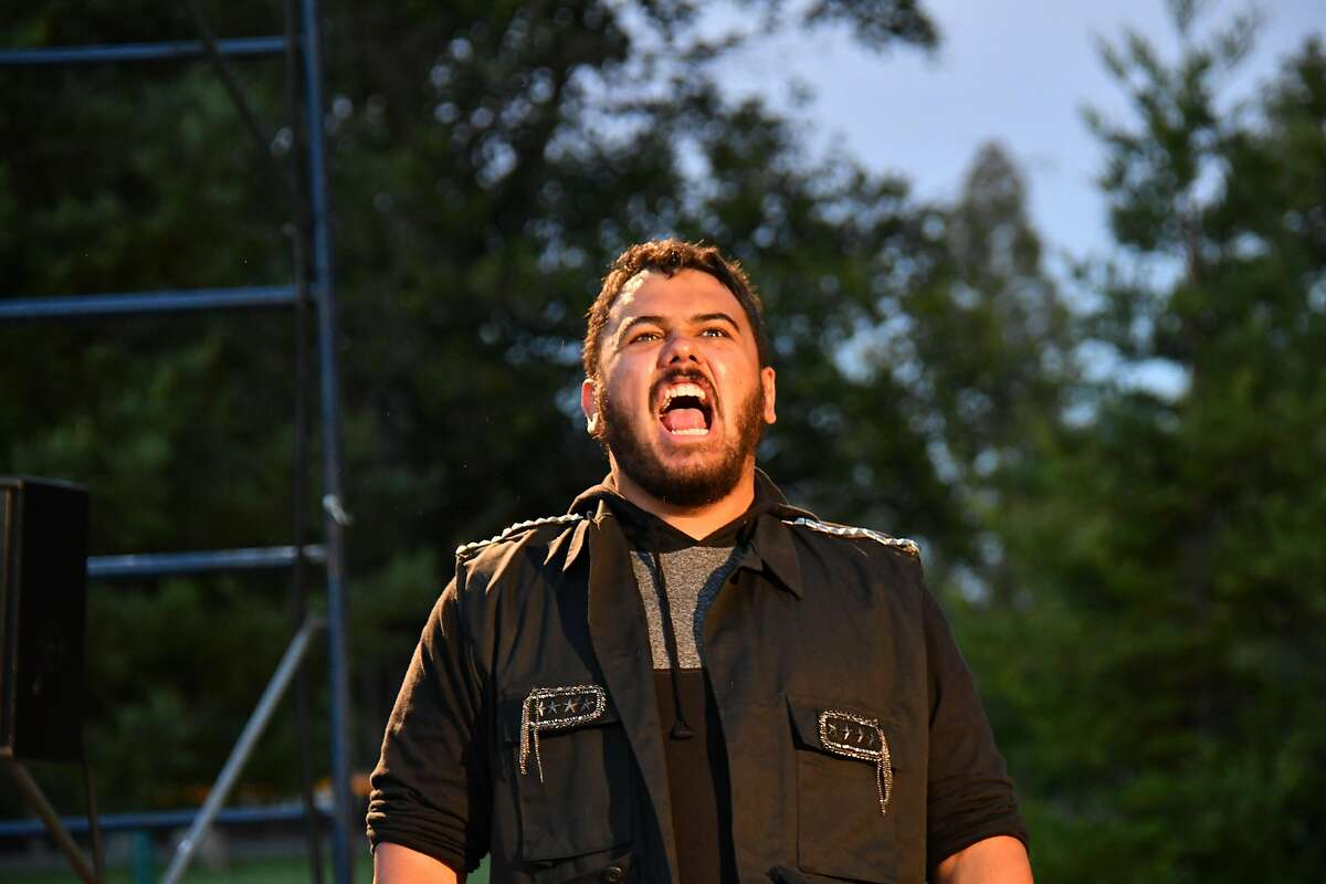Nathaniel Andalis in the title role of San Francisco Shakespeare Festival's