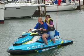 The Water Warriors, an organization that raises money for the Special Olympics of Michigan, rides jet skis from the Mackinac Brige to the Lake Saint Clair area annually. They were in Port Austin this week.