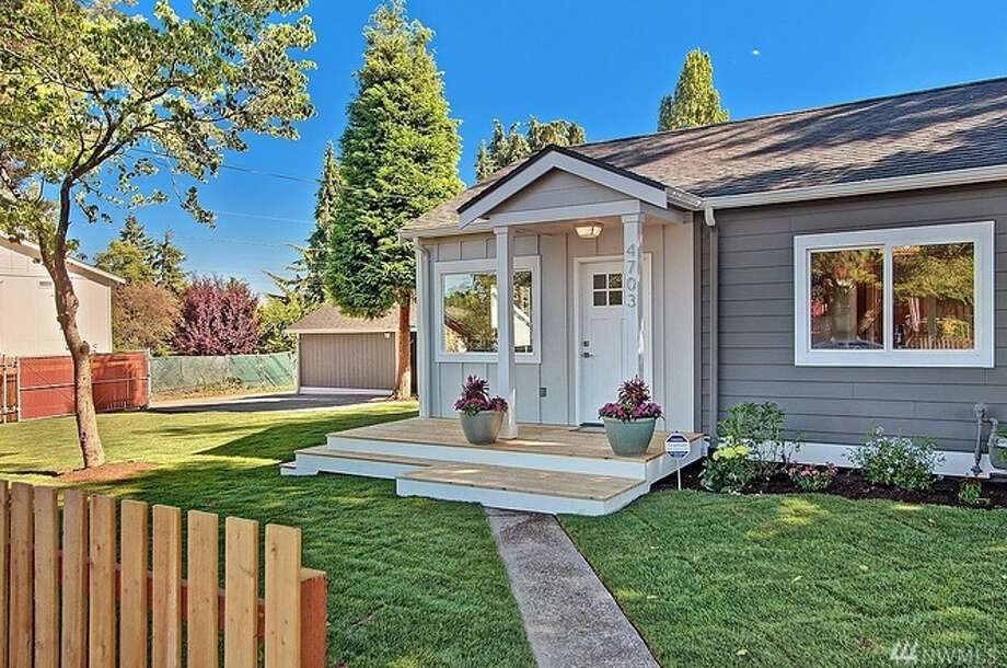 The first home, at 4703 S. Thistle St., is listed for $425,000. It is in Rainier Valley.The two-bedroom, one-bathroom home was built in 1900. It spans 960 square feet but sits on a large lot of more than 7,000 square feet.There will be a showing for this home Saturday, July 29 from 1 p.m. to 4 p.m. and Sunday, July 30 from noon to 3 p.m. You can see the full listing here. Photo: Photos By Vista Estate Imaging/listing Courtesy Zachary Lazo, Caliber Real Estate