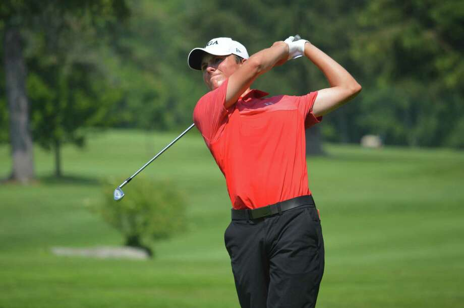 Greenwich's Jackson Fretty tees off during Day 3 of the 76th Connecticut Junior Amateur at Watertown Country Club on Wednesday, July 12, 2017. Photo: Connecticut State Golf Association / Contributed Photo / Greenwich Time Contributed