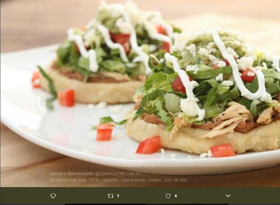 Gloria's Latin Cuisine just opened in San Antonio. Photo: Gloria's Twitter