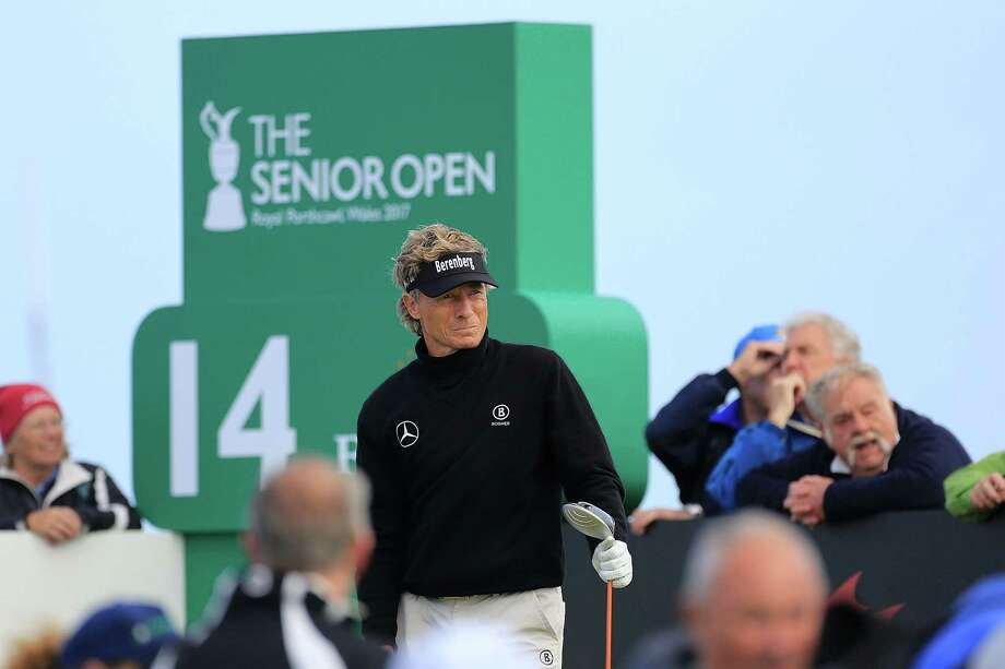 BRIDGEND, WALES - JULY 27:  Bernhard Langer of Germany in action during the first round of the Senior Open Championship presented by Rolex at Royal Porthcawl Golf Club on July 27, 2017 in Bridgend, Wales.  (Photo by Phil Inglis/Getty Images) Photo: Phil Inglis, Stringer / 2017 Getty Images