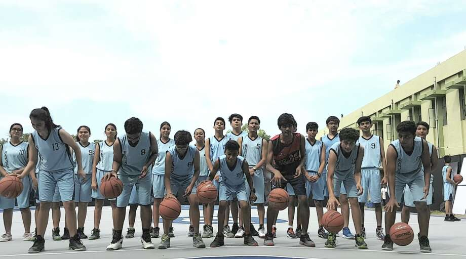 Photos from Kevin Durant's youth basketball camp in India. Photo: Sau Ching Cheong